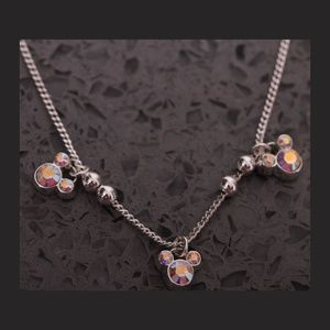 Triple Mickey Mouse Icons Necklace